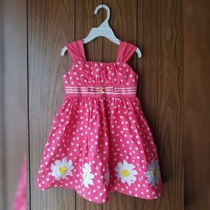Blueberi Boulevard Pink Polka Dot Flower Dress